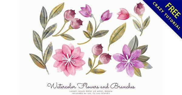 【水彩花】小編推薦:36張手繪的水彩花朵圖下載