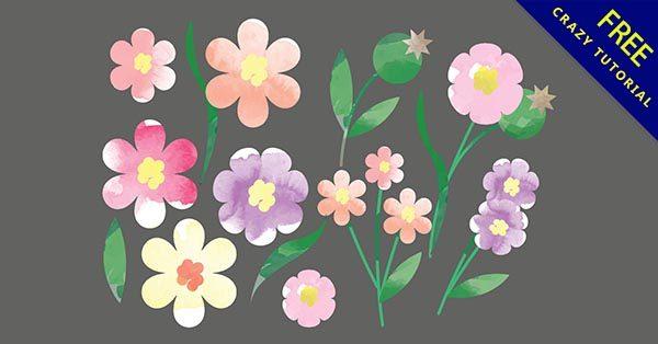 【花手繪】手繪推薦:34套可愛的花朵手繪圖下載