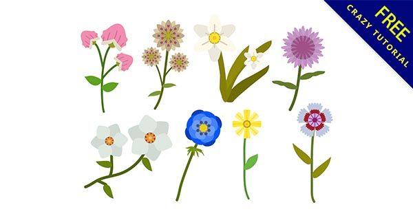 【花插圖】插圖推薦:39個可愛的花朵插圖下載