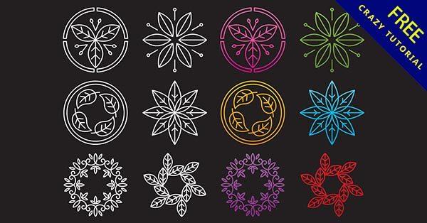 【花 logo】37款可愛的花朵LOGO標誌下載
