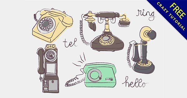 【電話卡通】圖案推薦:22款復古的電話卡通圖下載