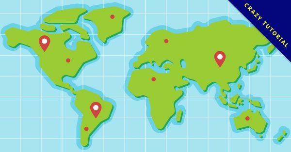 【世界地圖卡通】地圖推薦:22張卡通的世界地圖卡通圖下載