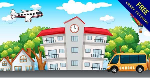 【卡通學校】校園推薦:17款可愛的卡通學校圖下載