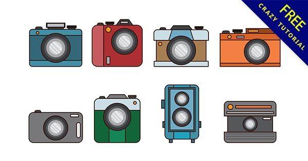 【卡通相機 】素材推薦:26款可愛的卡通相機圖下載