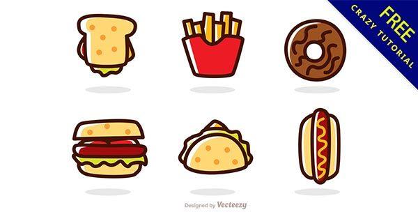 【卡通食物】素材推薦:29張超可愛的卡通食物圖下載