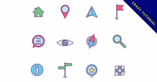 【地圖符號】符號推薦:18個可愛的地圖符號標誌下載