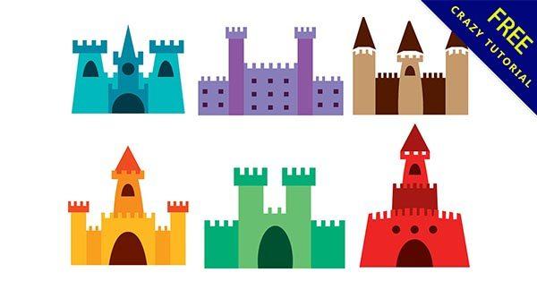 【城堡圖案】精華推薦:30個可愛的城堡圖案素材下載