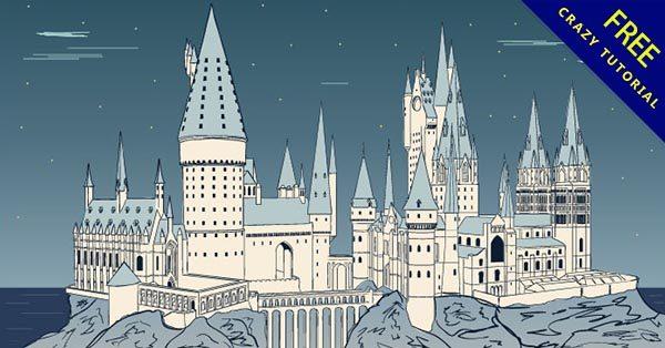 【城堡手繪】嚴選推薦:27張可愛的城堡手繪圖下載