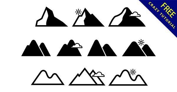 【山插圖】小編推薦:34款可愛的山插圖素材下載