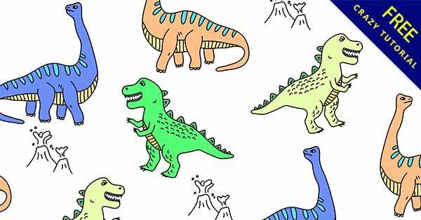 【恐龍手繪】手繪推薦:25套可愛的恐龍手繪圖下載