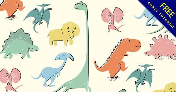 【恐龍插圖】插圖推薦:24套可愛的恐龍插圖素材下載