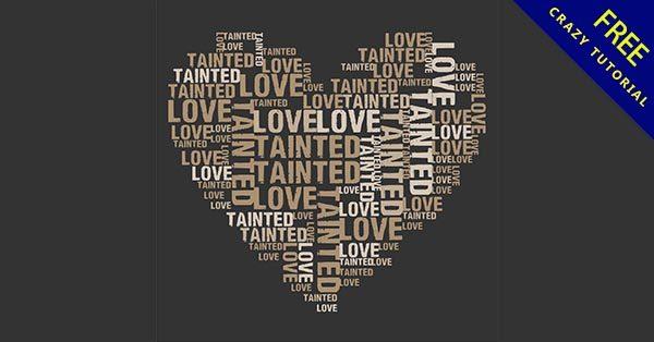 【愛心文字】愛心推薦:24套可愛的愛心文字圖案下載