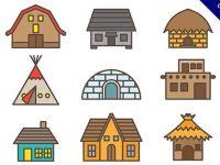 【房子卡通】素材推薦:48個可愛的房子卡通圖下載