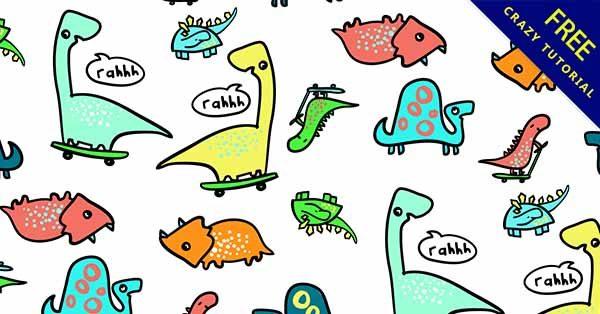 【手繪恐龍】手繪推薦:21套可愛的手繪恐龍圖下載