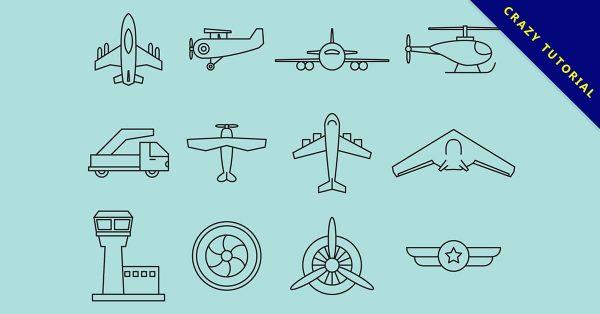 【手繪飛機】手繪推薦:29套可愛的手繪飛機圖案下載