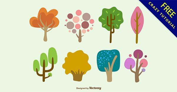 【樹手繪】手繪推薦:28個可愛的樹手繪圖下載