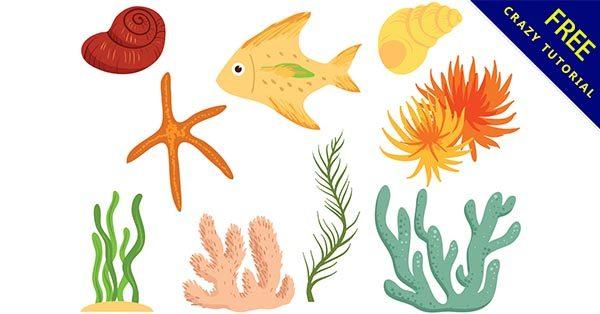 【海洋元素】元素推薦:31款有可愛的海洋元素圖下載