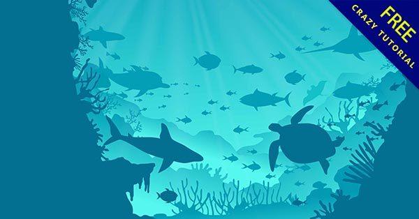 【海洋插畫】插畫推薦:35張可愛的海洋插畫素材下載
