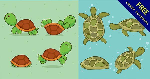 【海龜卡通】海龜推薦:43款有可愛的海龜卡通圖案下載
