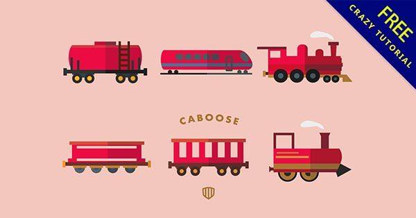 【火車素材】素材推薦:27張卡通的火車素材圖下載