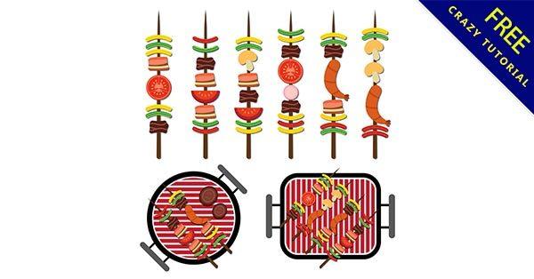 【烤肉卡通】素材推薦:37套可愛的烤肉卡通圖下載