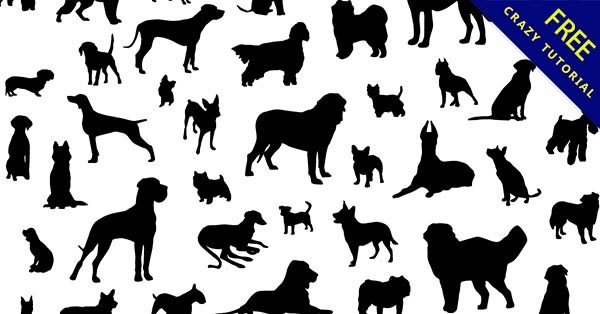 【狗剪影】剪影推薦:33個黑色的小狗剪影下載