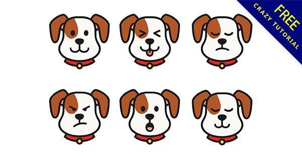 【狗卡通】素材推薦:32個可愛的小狗卡通圖下載