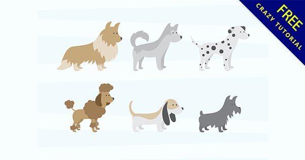 【狗素材】素材推薦:38套可愛的小狗素材下載