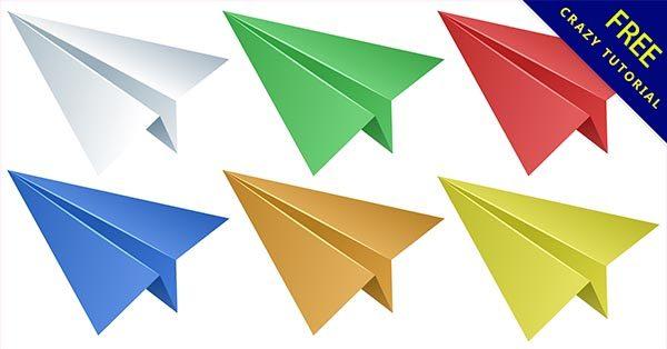 【紙飛機素材】素材推薦:18套可愛的紙飛機素材圖下載