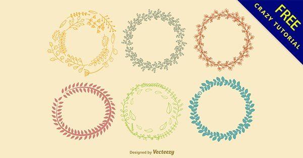 【花圈手繪】花圈推薦:41張可愛的花圈手繪圖下載
