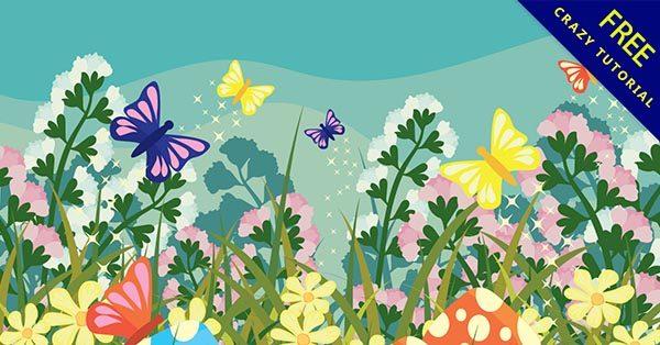 【花園卡通】花園推薦:25套可愛的花園卡通圖下載