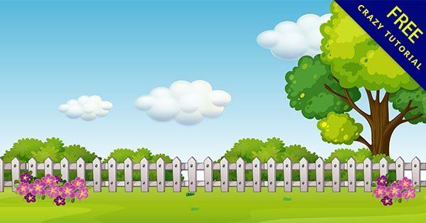 【花園背景】背景推薦:30張卡通的花園背景圖下載