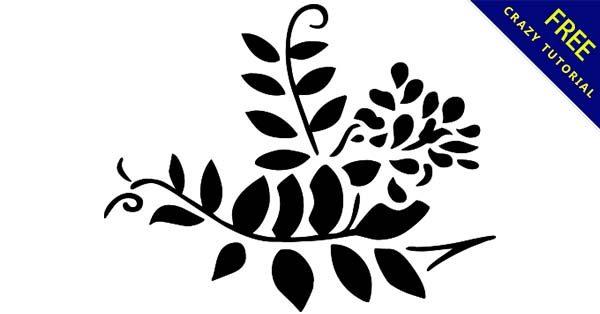 【葉子 png】向量推薦:29款黑白的葉子png圖案下載