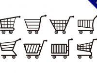 【購物車素材】實用推薦:31套可愛的購物車素材圖案下載