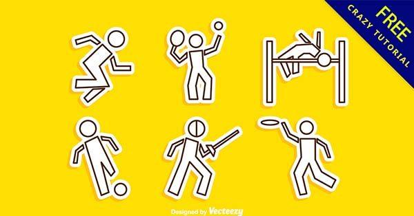 【運動插圖】插圖推薦:25款卡通的運動插圖素材下載