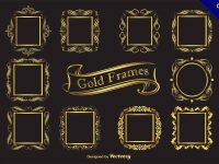 【金色邊框】邊框推薦:27套高質感的金色邊框素材下載