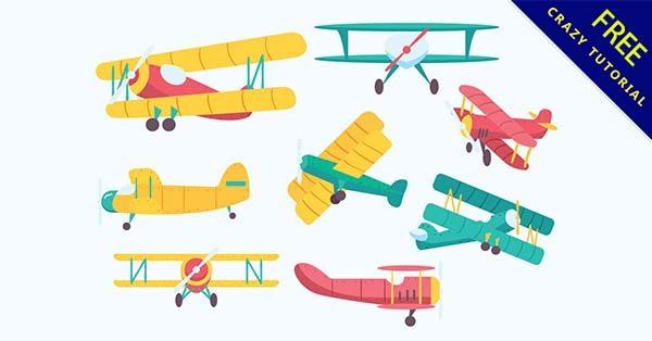 【飛機插圖】插圖推薦:22個可愛的小飛機插圖素材下載