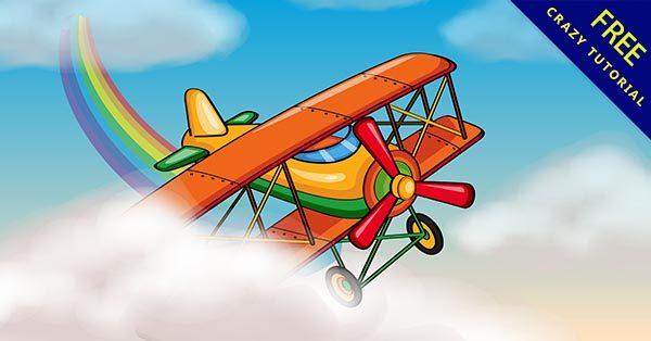 【飛機插畫】插畫推薦:25款可愛的小飛機插畫圖下載