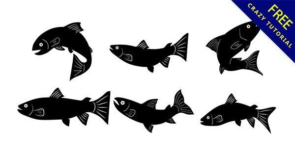 【魚剪影】剪影推薦:22張黑色的魚剪影圖下載