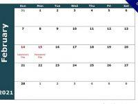 17款 2021月曆製作模板下載,可直接列印出來使用