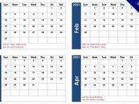 2021月曆表 word模版下載,A4可直接印刷或是修改