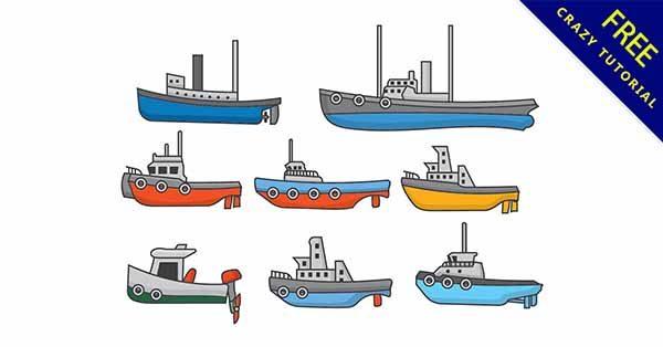 【卡通船】圖案推薦:20張可愛的卡通船圖案下載