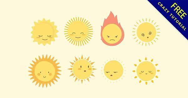 【太陽卡通】素材推薦:24套可愛的太陽卡通圖下載