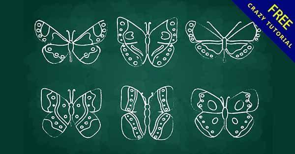【手繪蝴蝶】手繪推薦:23套可愛的手繪蝴蝶圖下載