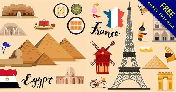 【旅行卡通】素材推薦:21個可愛的旅行卡通圖下載