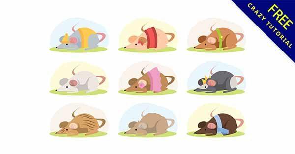 【老鼠插畫】插畫推薦:13款可愛的老鼠插畫素材下載
