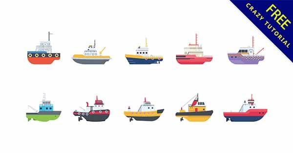 【船卡通】圖案推薦:26款可愛的船卡通圖下載