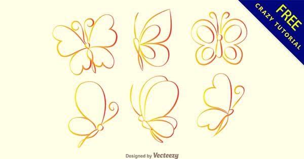 【蝴蝶圖案】圖案推薦:27套可愛的蝴蝶圖案素材下載
