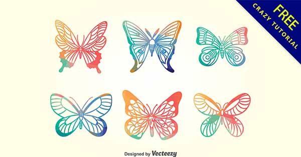 【蝴蝶插圖】插圖推薦:20款可愛的蝴蝶插圖素材下載