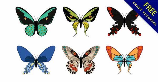 【蝴蝶插畫】插畫推薦:23款有可愛的蝴蝶插畫圖下載
